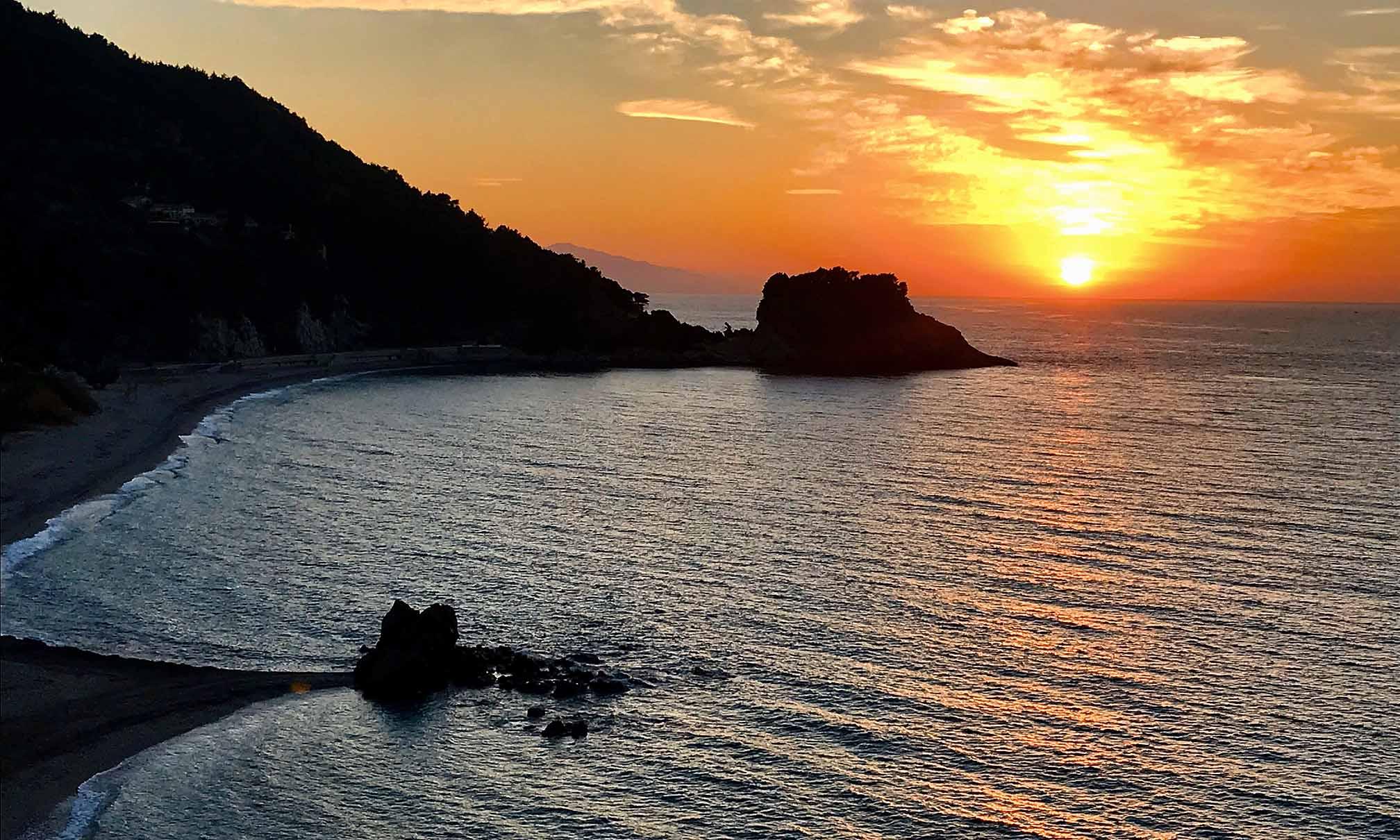 Samos Potami Sonnenuntergang