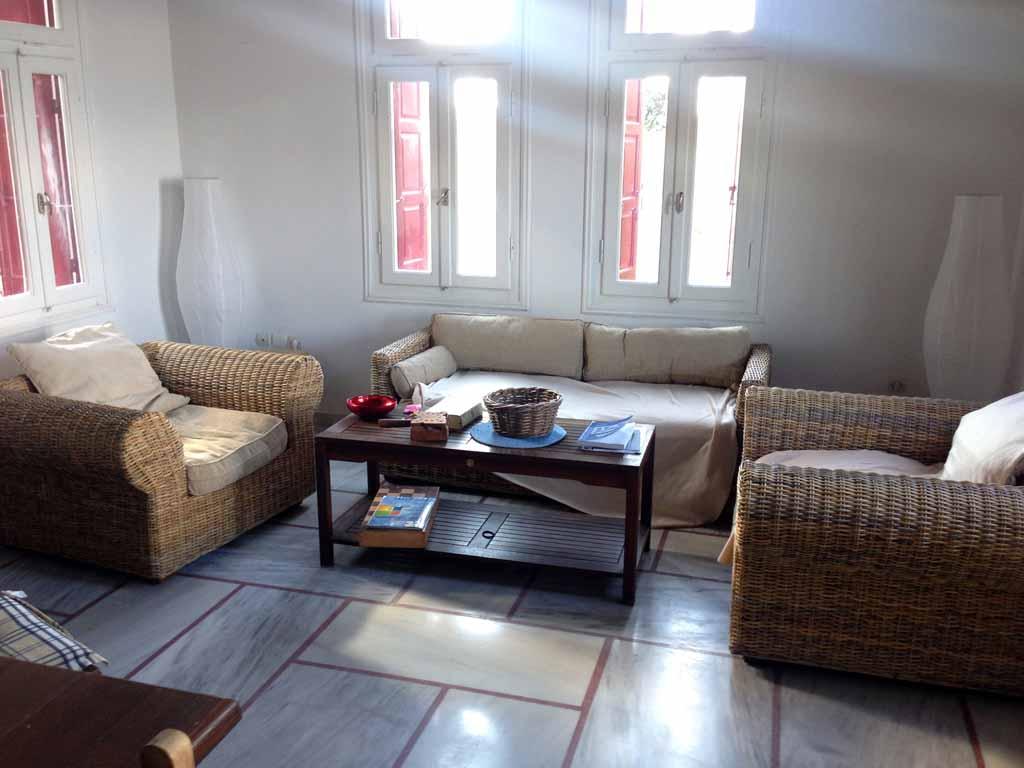 Ferienhaus Petros Wohnzimmer